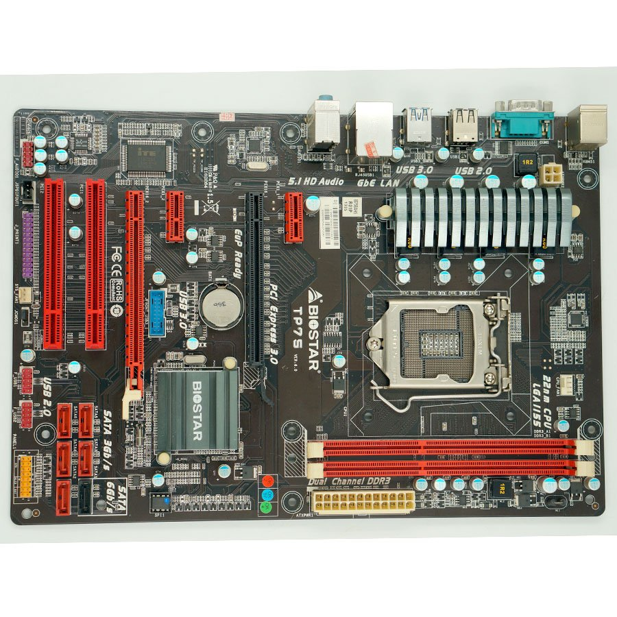 Biostar TP75 1155 USB3 overclocking motherboard