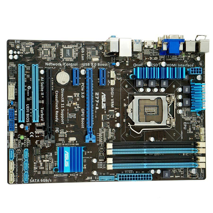 moderkort ASUS Z77-A LGA1155 DDR3 32GB Intel Z77 Desktop moderkort