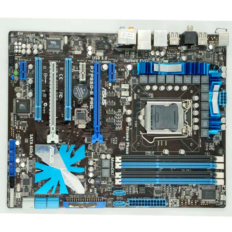 Asus P7P55D-E Deluxe Desktop Motherboard P55 LGA 1156 i5 i7 DDR3 SATA2 USB2.0 ATX Second-hand High Quality