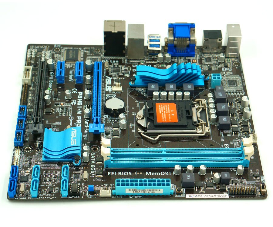 Asus P8H61-M Pro Desktop Motherboard H61 Socket LGA 1155 i3 i5 i7 DDR3 16G uATX Použitý High Quality