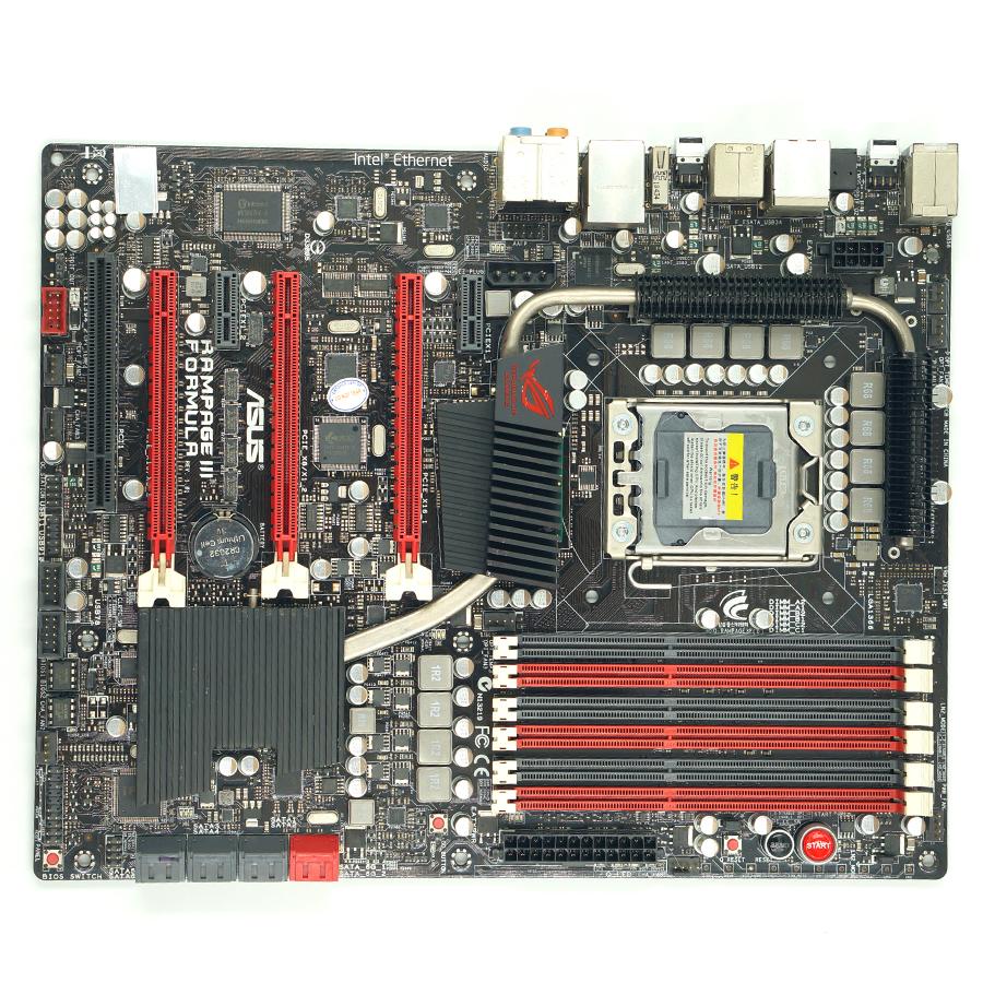 Asus Rampage III Mula Desktop moderkort X58 Socket LGA 1366 i7 DDR3 24G SATA3 USB3.0 ATX Second hand Hög kvalitet