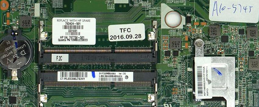 PS 763424-501 17-f 17-f004dx DAY23AMB6C0 A10-5745M Hauptplatine