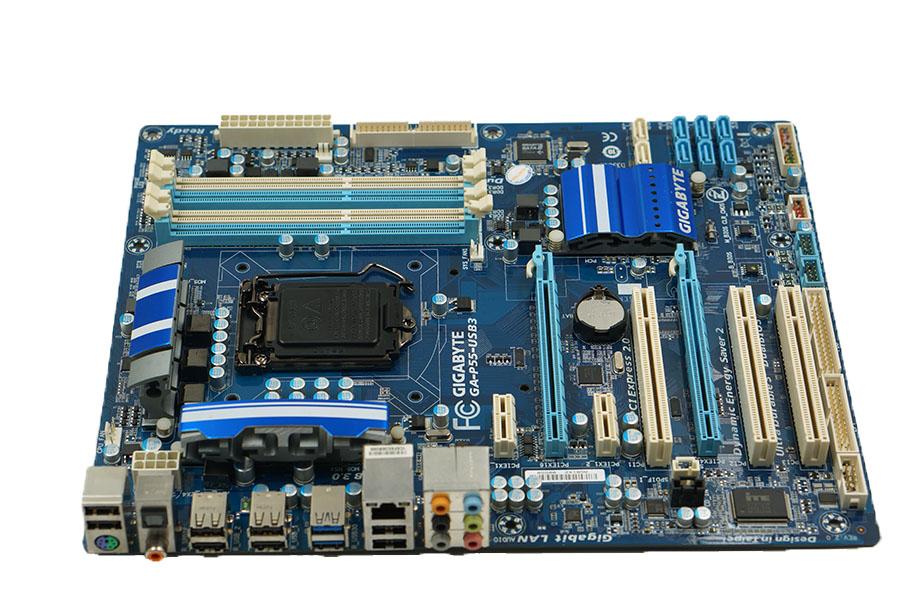 Gigabyte GA-P55-USB3 desktop Motherboard P55-USB3 Usado P55 LGA 1156 i5 i7 DDR3 16G SATA2 USB3.0 ATX