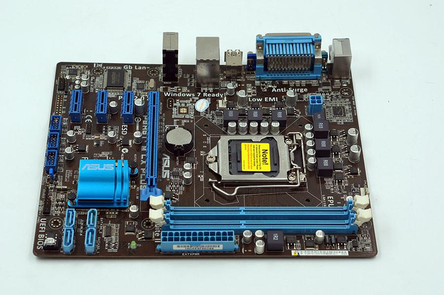 Used, Asus P8H61-M LX PLUS R2.0 Desktop Motherboard H61 Socket LGA 1155 i3 i5 i7 DDR3 16G