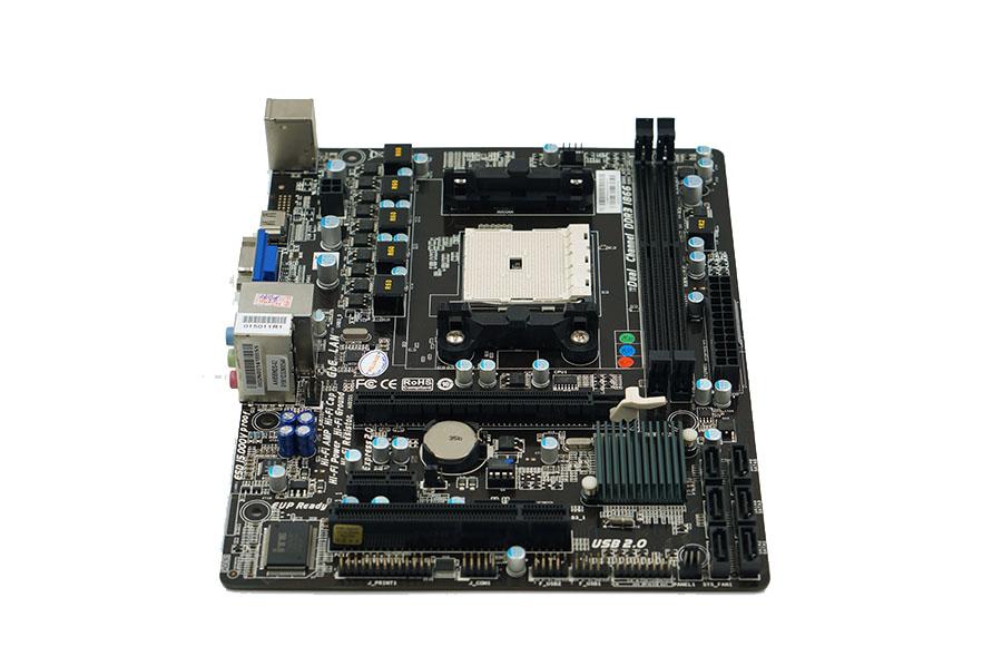 Används, moderkort BIOSTAR HI-FI A85S3 Socket FM2 ddr3 16GB Desktop moderkort testade