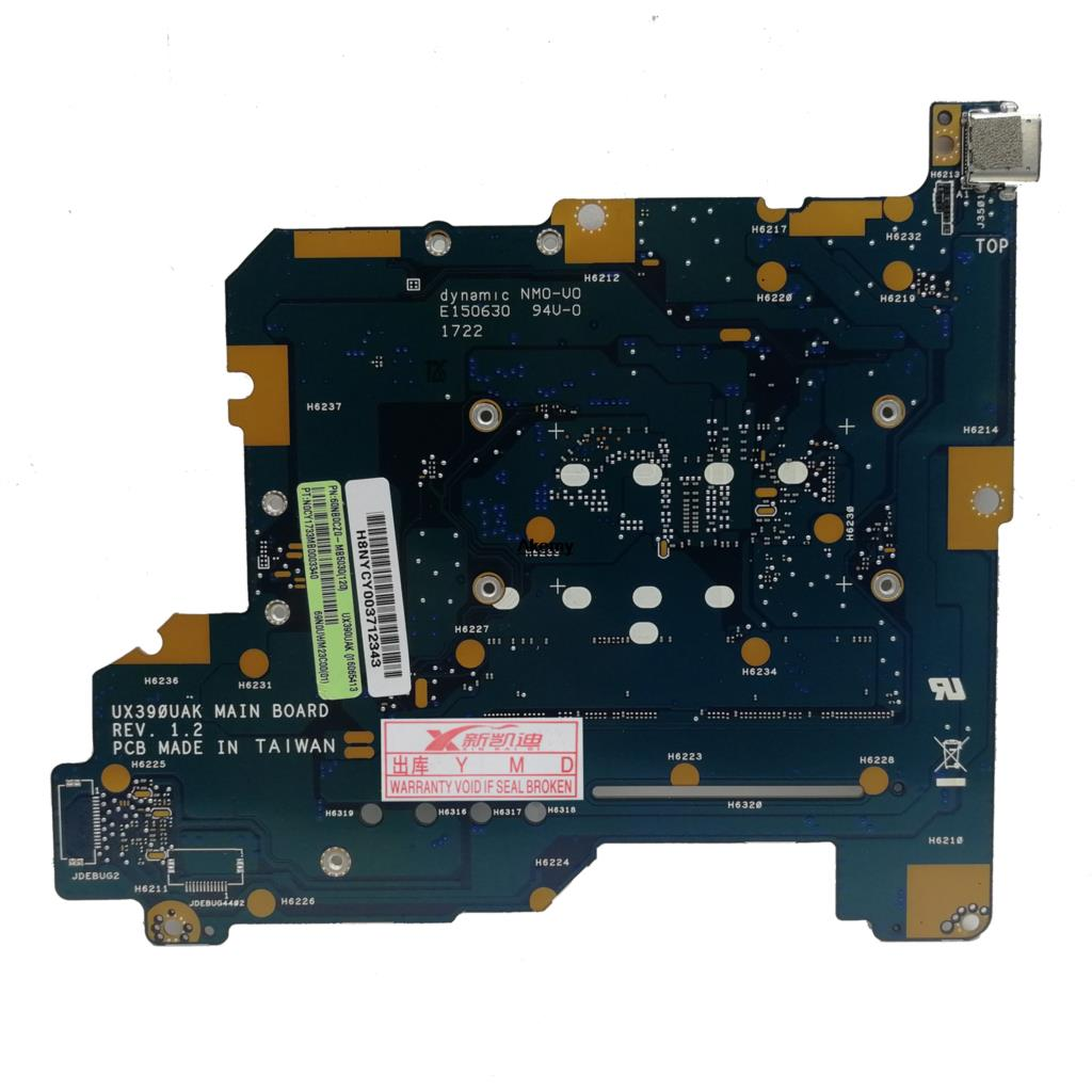 ASUS ZenBook 3 UX390 UX390U UX390UA UX390UAK Laptop Motherboard