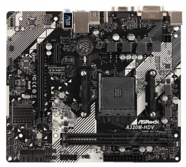 ASRock A320M HDV R4.0 motherboard AMD A320 DDR4 Micro-ATX