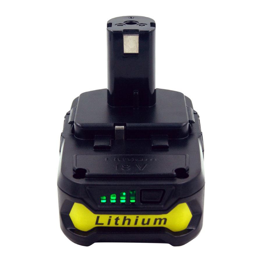 2PCS New 18V 2500mah RB18L25 Lithium Ion Battery Ryobi Drill Replace P103 P104 P105 P108
