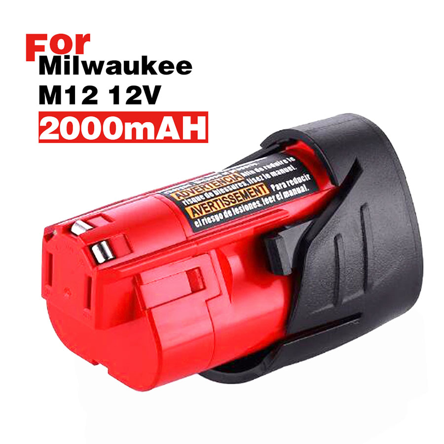 2.0Ah 12v 12 Vlot M12 Battery Milwaukee 48-11-2401 48-11-2402 48-11-2411 M12 XC FREE SHIP