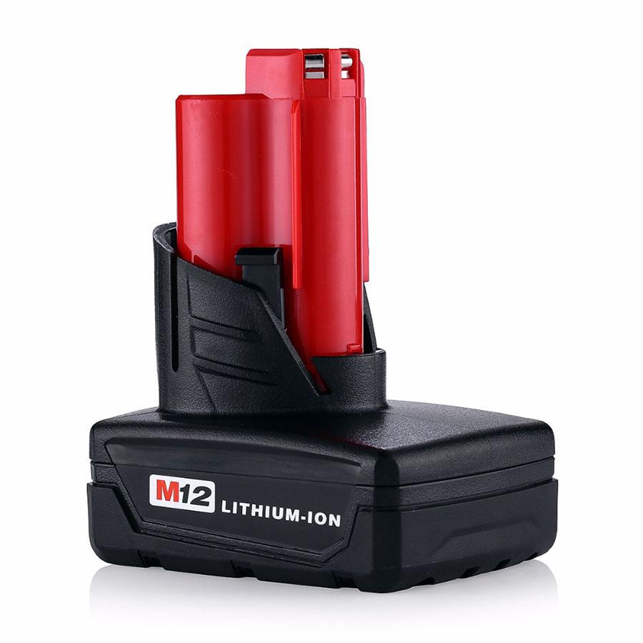 QTY 2X 4000mAh 12v M12 Battery Milwaukee 12 Vlot 48-11-2402 48-11-2440 XC FREE P&P
