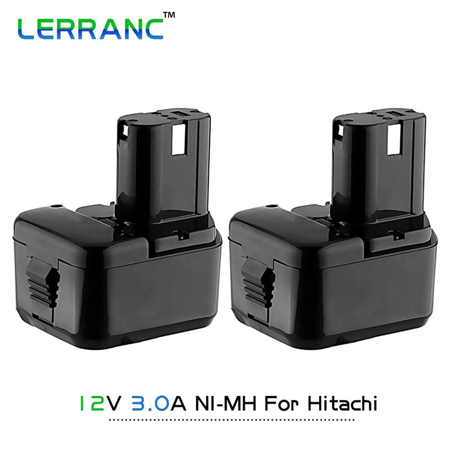 2 X Ni-MH 12V 3.0Ah Power Battery Hitachi EB1230HL/EB1230R/EB1230X/324360/324361/324362