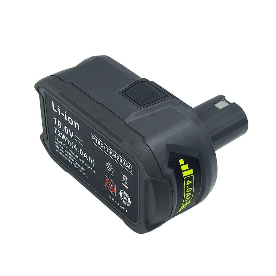 New Lithium Ion Battery Ryobi 18V P108 RB18L40 4000mAh 4.0A Ryobi ONE+ P104 P100 P107