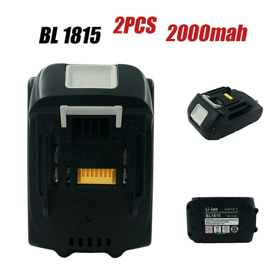 2X New Batteries 18V 2000mAh Makita 2.0Ah BL1815 BL1830 BL1840 BL1845 LXT400 194230-4
