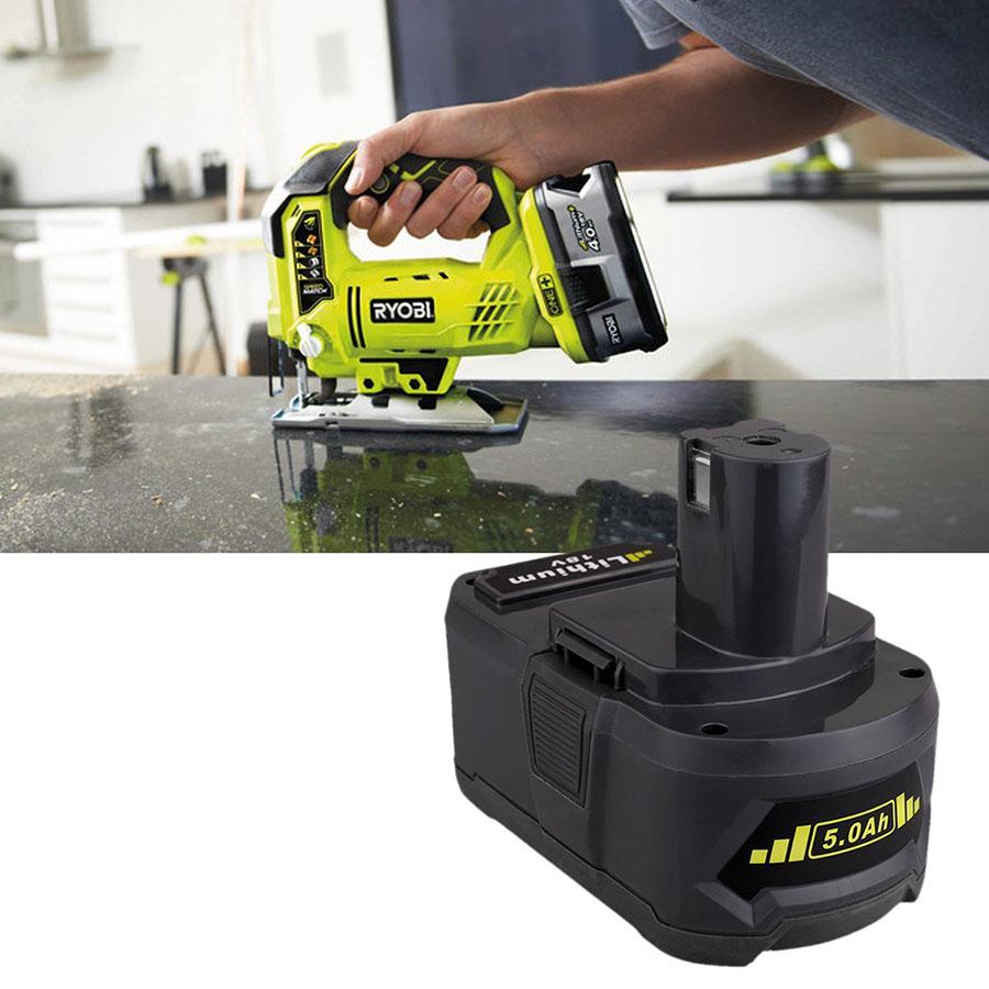 2PCS New 18V 5000mAH Lithium Power Battery Ryobi 18-Volt P122 P102 P108 P109