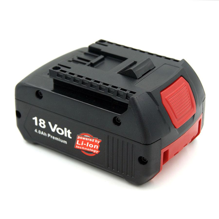 18-volt Lithium-Ion 4.0 AH Battery with Digital Fuel Gauge Bosch BAT609G BAT618 BAT620 3601H61S10 2607336170