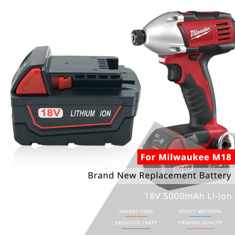 5000mAh 18V Battery Milwaukee M18 XC 48-11-1815 M18B2 M18B4 M18BX