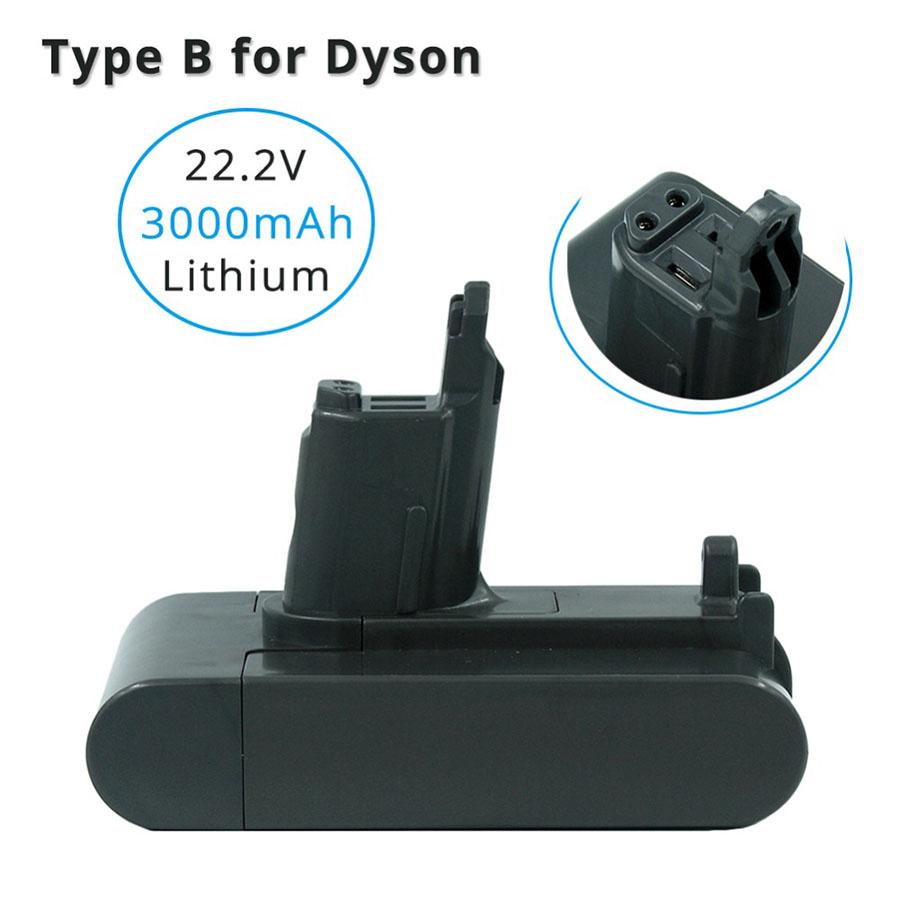 22.2V 3000mAh Tipo B batteria al litio Dyson DC31 DC35 DC44 DC45 DC44 Serie MK2 vuoto Cleanner