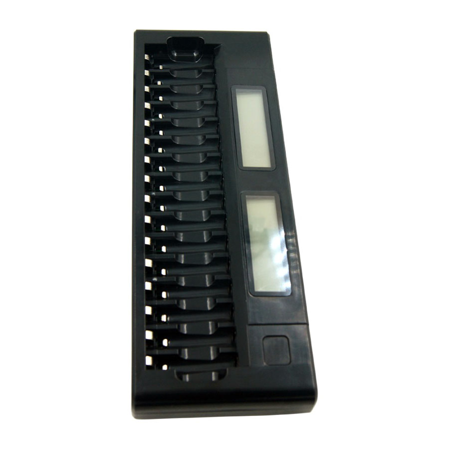 16Slots LCD Display Smart AA/AAA 5/7 1.2V Ni-MH NI-CD Battery 16 Batteries Intelligent US/EU plug