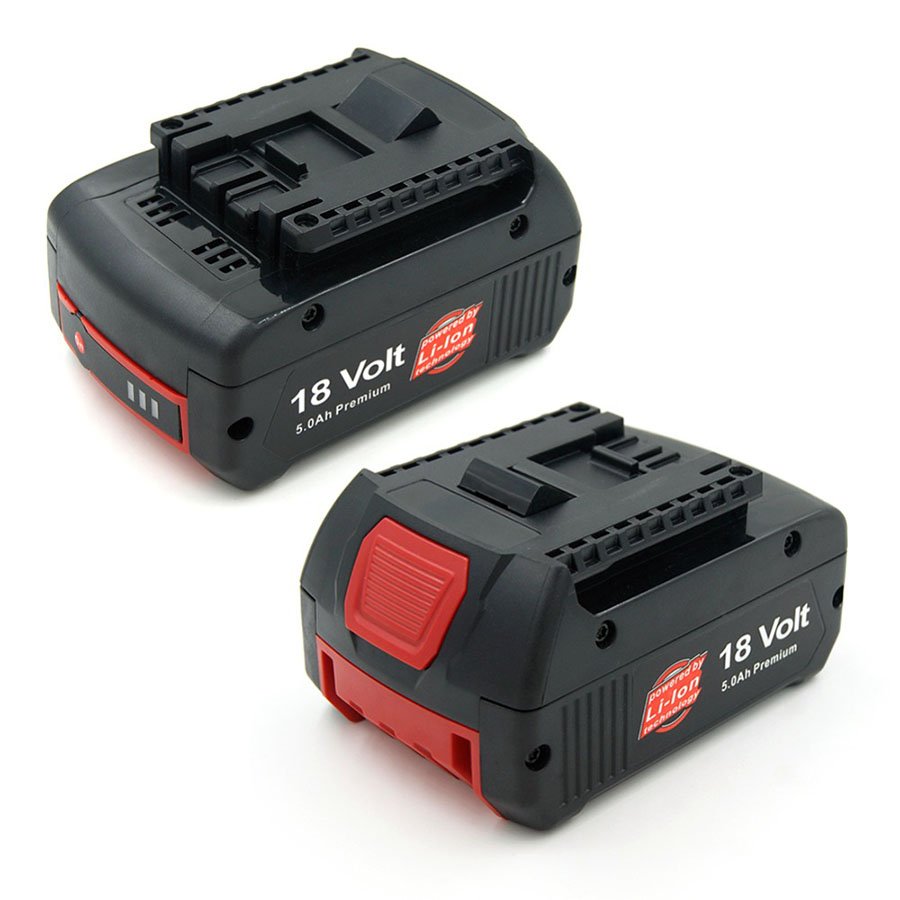 2pack of 5000mAh 18V Lithium Battery Bosch Drill BAT609 BAT618 3601H61S10 JSH180 Bosch 18 V-LI