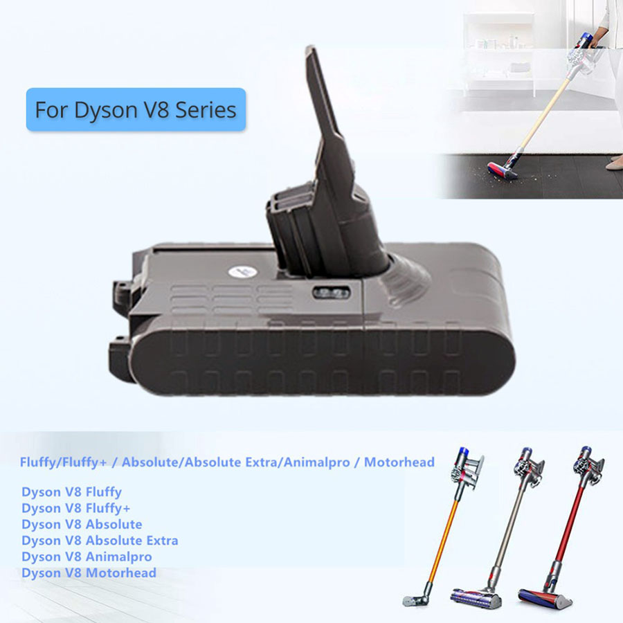 21.6V 3500mAh Batterie au lithium Dyson V8 Absolute Aspirateur de batterie portable