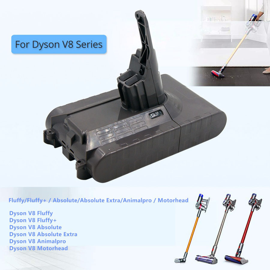 Battery 21.6V 3500mAh Dyson V8 Animal V8 Absolute Vacuum Cleaner Lithium Battery