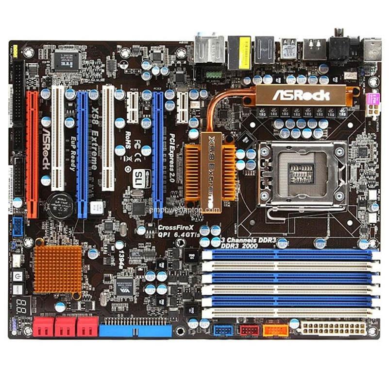 Asrock X58 EXTREME begagnade Desktop moderkort x58 1366 Socket LGA 1366 DDR3 24G SATA2 USB2.0 ATX