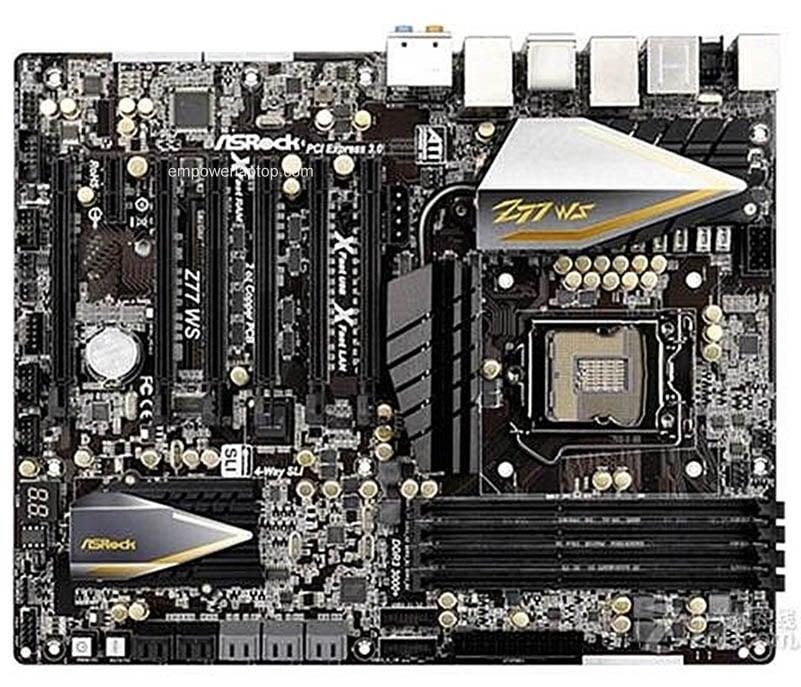 Asrock Z77 WS Used Desktop Motherboard Z77 Socket LGA 1155 i3 i5 i7 DDR3 32G SATA3 USB3.0 ATX