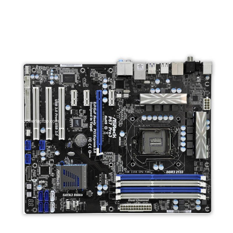 Asrock P67 Pro3 Used Desktop Motherboard P67 Socket LGA 1155 i3 i5 i7 DDR3 32G USB3.0 ATX