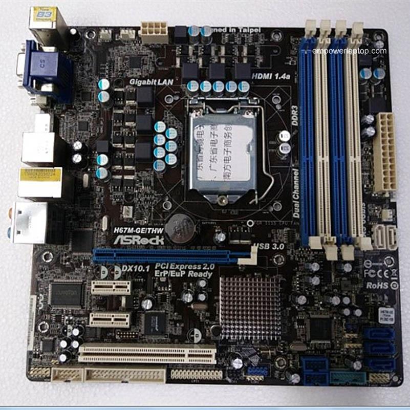 Gebruikte ASRock H67M-GE LGA1155 DDR3 H67 moederbord Micro ATX