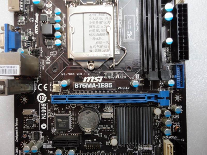 desktop motherboard MSI B75MA-IE35 LGA 1155 DDR3 i3 i5 i7 cpu 16GB VGA HDMI B75 motherboard