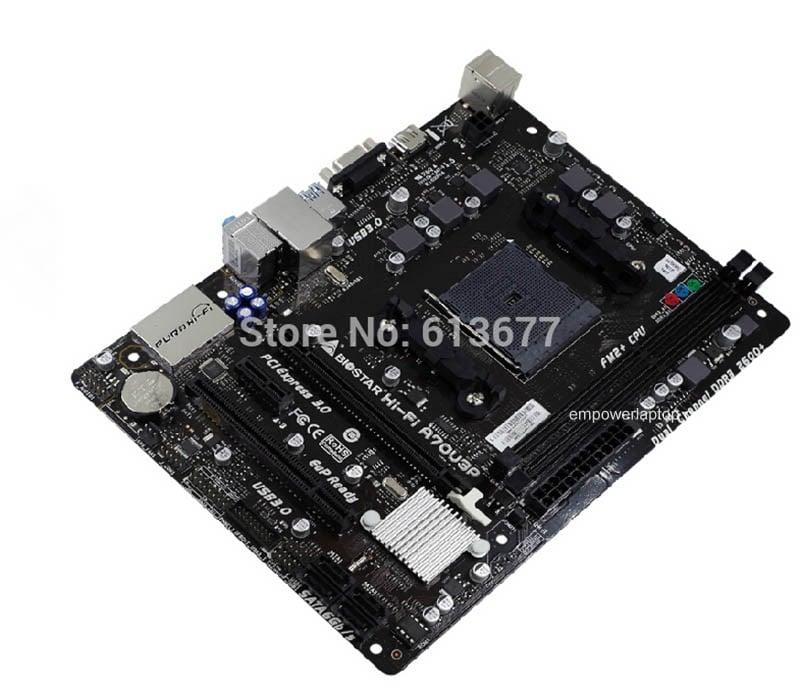 100% 100% nový stolní deska Biostar Hi-Fi A70U3P FM2 + DDR3 RAM 32G s HDMI desce