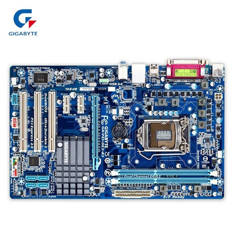 Gigabyte GA-P61-DS3-B3 Used Desktop Motherboard P61-DS3-B3 H61 LGA 1155 i3 i5 i7 DDR3 16G ATX