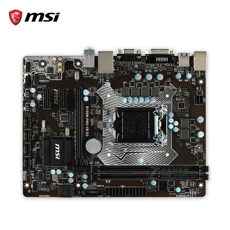 MSI B150M PRO-VD D3 Used Desktop Motherboard B150 Socket LGA 1151 i3 i5 i7 DDR3 32G SATA3 Micro-ATX