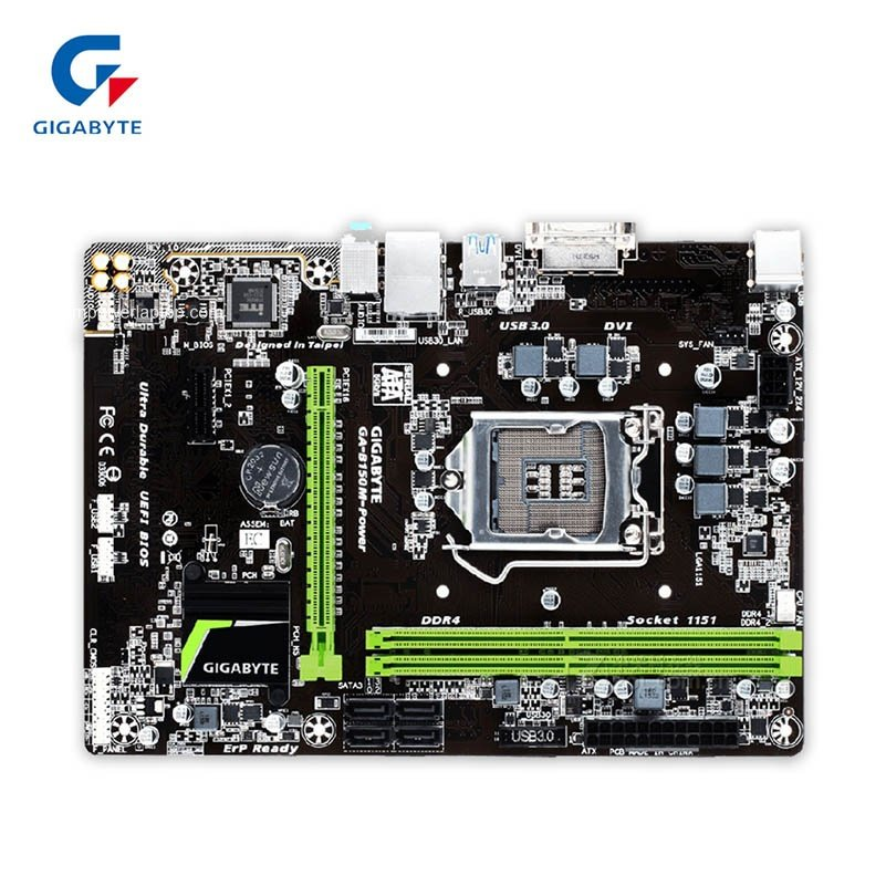 Gigabyte GA-B150M-Power New Desktop moderkort B150M-Power B150 LGA 1151 i3 i5 i7 DDR4 Micro-ATX