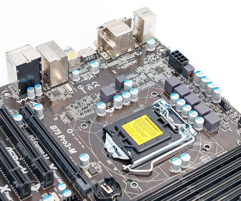 Asrock B75 Pro3-M begagnade Desktop Moderkort B75 Socket LGA 1155 i3 i5 i7 DDR3 32G USB3.0 Micro-ATX