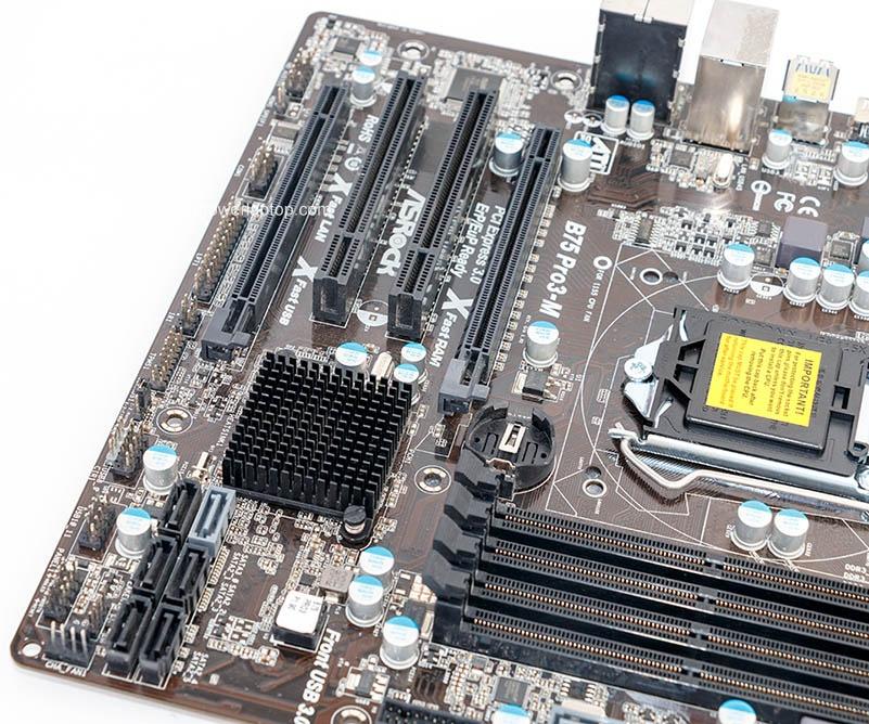 Asrock B75 Pro3-M gebruikte desktop Moederbord B75 socket LGA 1155 i3 i5 i7 DDR3 32G USB3.0 Micro-ATX