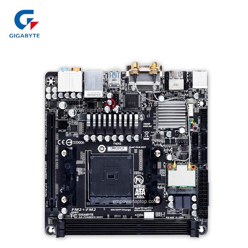 Gigabyte GA-F2A88XN-WIFI Used Desktop Motherboard A88X Socket FM2 64G DDR3 SATA3 USB3.0 Mini-ITX