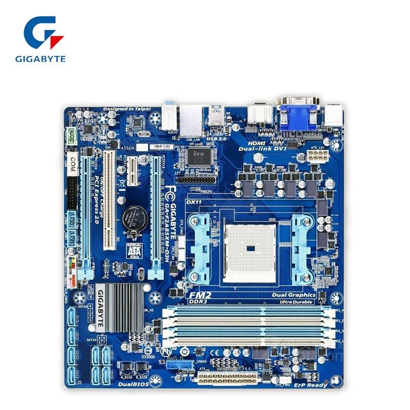 Gigabyte GA-F2A85XM-D3H použité Desktop Motherboard F2A85XM-D3H A85X Socket FM2 DDR3 SATA3 USB3.0 ATX