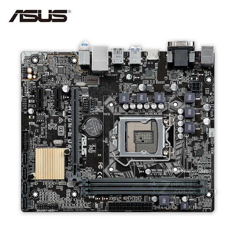 Asus H110M-E D3 Used Desktop Motherboard H110 Socket LGA 1151 i7 i5 i3 DDR3 32G SATA3 Micro-ATX