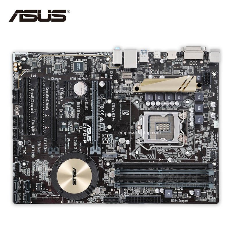 Asus Z170-P Used Desktop Motherboard Z170 Socket LGA 1151 i7 i5 i3 DDR4 64G SATA3 USB3.0 ATX