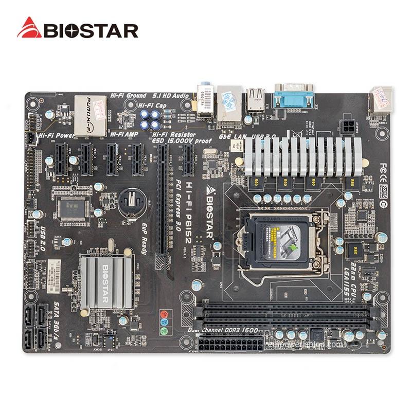 Biostar HI-FI P61S2 Used Desktop Motherboard H61 Socket LGA 1155 i3 i5 i7 DDR3 16G USB2.0 ATX