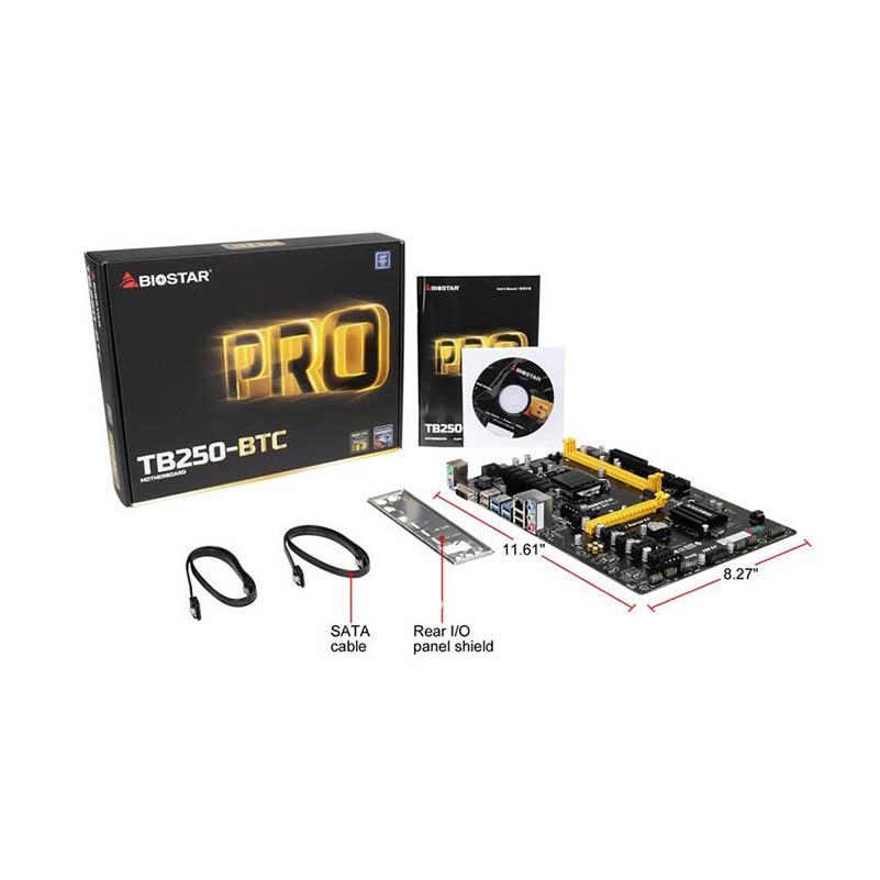 Biostar TB250-BTC 6PCIE motherboard TB250 LGA1151 (alternative H81 PRO BTC  TB85 H81A) PC