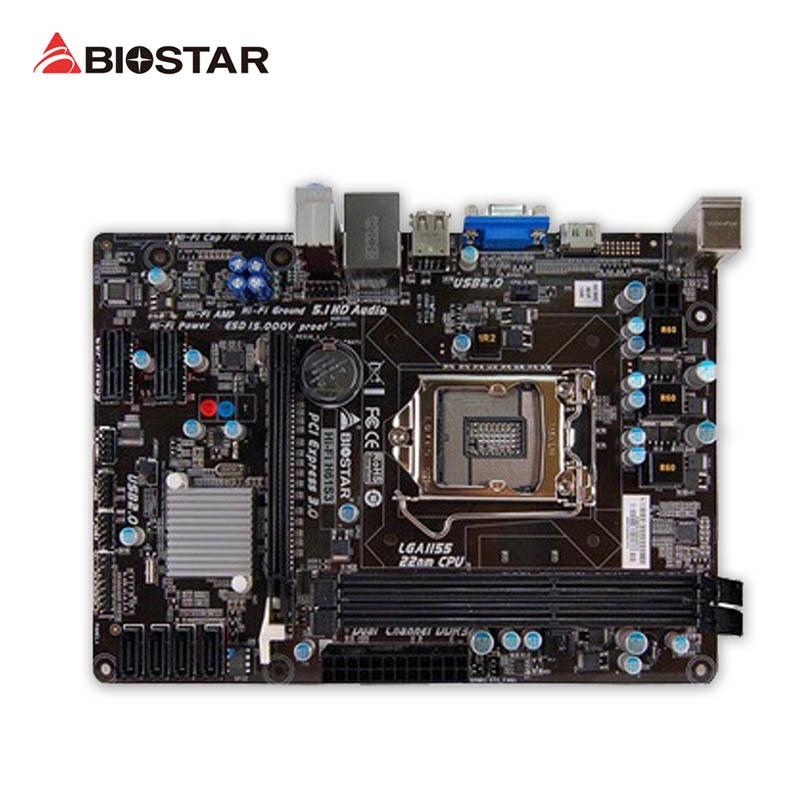 BIOSTAR Hi-Fi H61S3 Used Desktop Motherboard H61 LGA 1155 i7 i5 i3 DDR3 16G SATA2 USB2.0 Micro-ATX