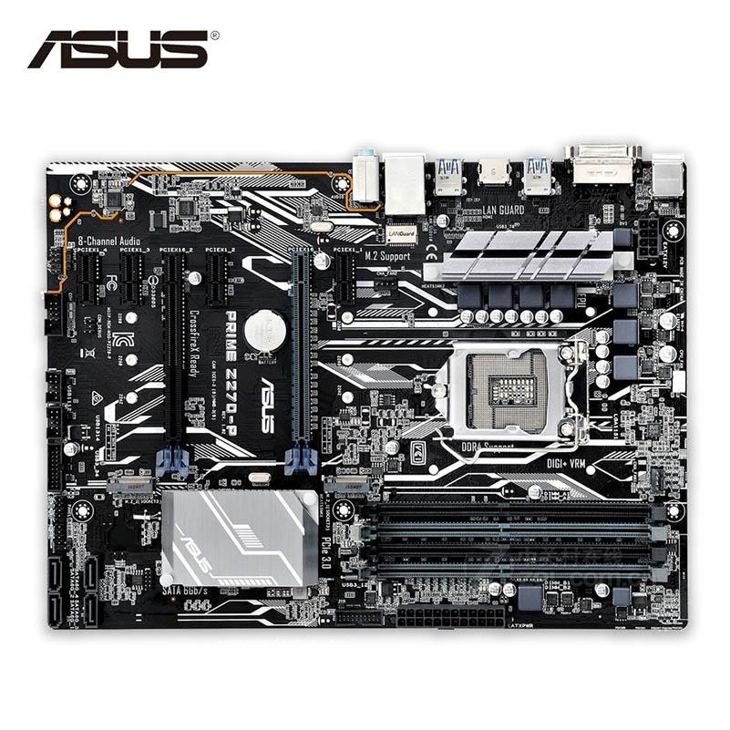 Asus PRIME Z270-P New Desktop Motherboard Z270 Socket LGA 1151 i7 i5 i3 DDR4 64G SATA3 USB3.1 ATX