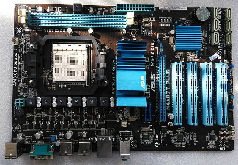 Used, Asus M4A87T PLUS Desktop Motherboard 870 Socket AM3 DDR3 SATA3 USB2.0