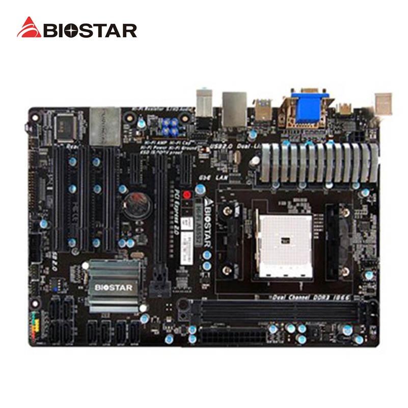 BIOSTAR Hi-Fi A85S2 begagnade Desktop moderkort A85X Socket FM2 DDR3 32G SATA3 USB3.0 ATX