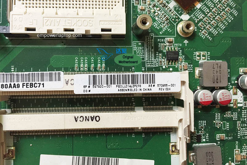 570966-001 HP MS215 MS218 MS219 MS225 AIO Motherboard DA0ZN1MB6C0 Mainboard 100%tested fully work