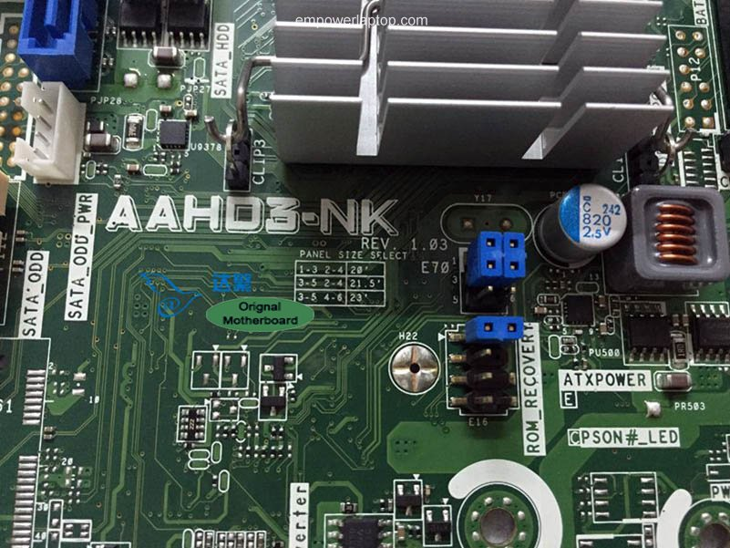 653845-001 HP TouchSmart 320 AIO Motherboard AAHD3-NK Mainboard 100%tested fully work