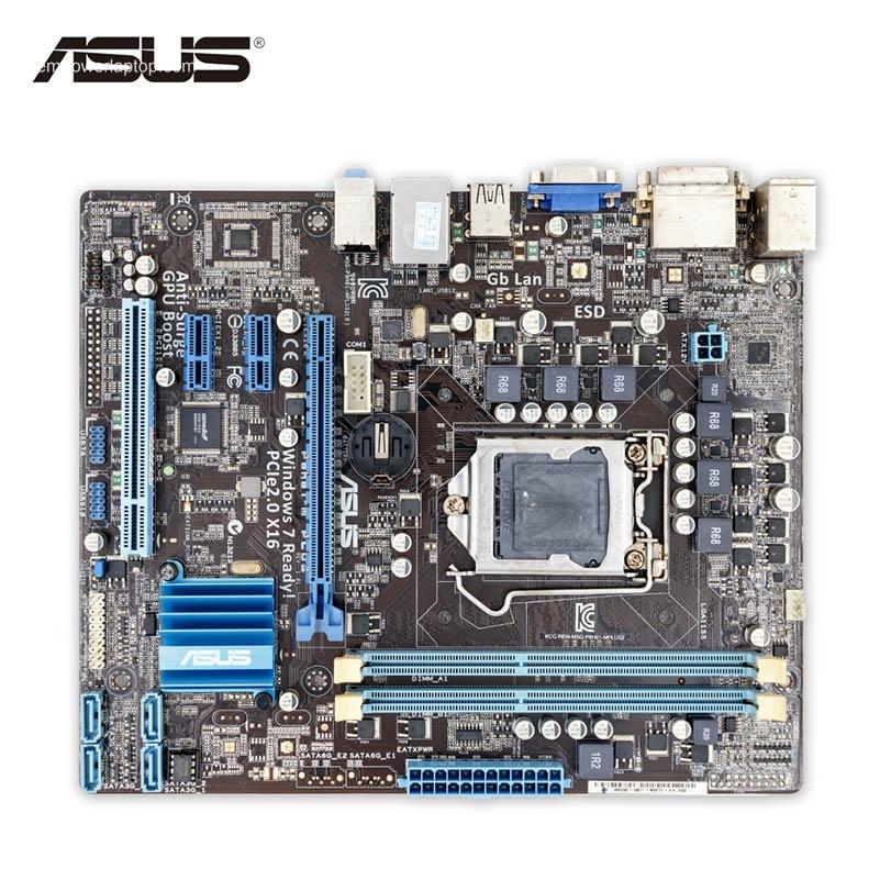 Asus P8H61-M PLUS Desktop Motherboard H61 Socket LGA 1155 i3 i5 i7 DDR3 16G uATX On Sale Second-hand High Quality