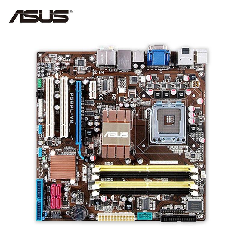 Asus P5QPL-VM Desktop Motherboard G41 Socket LGA 775 DDR2 8G SATA2 USB2.0 uATX Second-hand High Quality